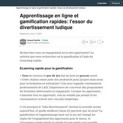 Apprentissage en ligne et gamification rapides: l'essor du divertissement ludique