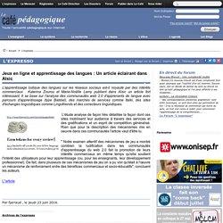 Jeux en ligne et apprentissage des langues : Un article éclairant dans Alsic