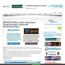 [PROMETTEUR] 2 outils numériques d'apprentissage collaboratif #EcoleNumerique