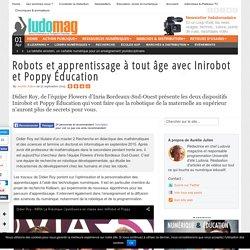 Robots et apprentissage à tout âge avec Inirobot et Poppy Éducation