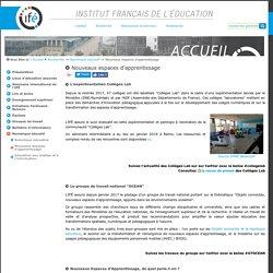 Nouveaux espaces d'apprentissage — Site de l'Institut Français de l'Education