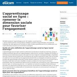 L'apprentissage social en ligne : ramener la dimension sociale pour favoriser l'engagement