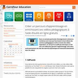 Créer un parcours d'apprentissage en enrichissant ses vidéos pédagogiques à l'aide d'outils en ligne gratuits