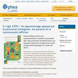Il s'agit d'ÉPS - Un apprentissage appuyé par le personnel enseignant, les parents et la communauté (affiche)