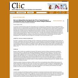 Vers une métasynthèse des impacts des TIC sur l'apprentissage et l'enseignement dans les établissements du réseau collégial québécois