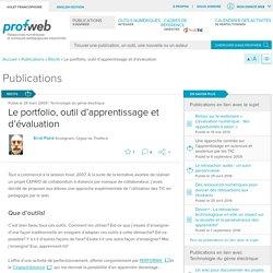 Le portfolio, outil d'apprentissage et d'évaluation