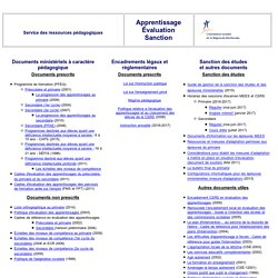 Apprentissage - Évaluation - Sanction