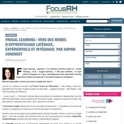 Frugal learning : vers des modes d'apprentissage latéraux, expérientiels et intégraux. Par Sophie Cohendet