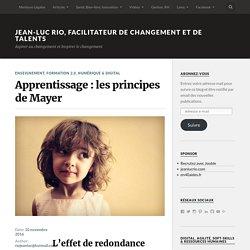 Apprentissage : les principes de Mayer – Jean-Luc RIO, Facilitateur de changement et de talents