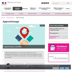 Apprentissage - Grands dossiers