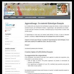 Apprentissage : le contexte historique français