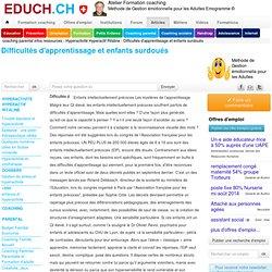 Difficultés d'apprentissage et enfants surdoués Hyperactivité Hy