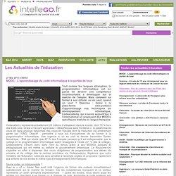 MOOC : Lapprentissage du code informatique à la portée de tous