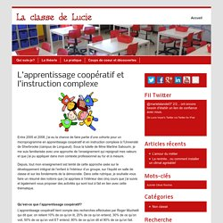 L'apprentissage coopératif et l'instruction complexe