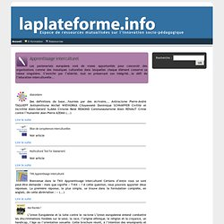 . : Id6 :.. : La Plateforme.info :. - Apprentissage interculturel