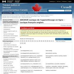 Lexique français-anglais–Bureau de la traduction