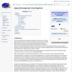 Apprentissage par investigation