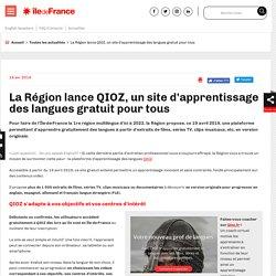 La Région lance QIOZ, un site d'apprentissage des langues gratuit pour tous