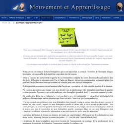 Strategies d'apprentissage - Quel type d'apprenant suis-je ?