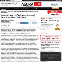 Apprentissage profond (deep learning) dans le monde de la biologie