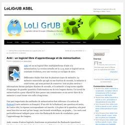 Anki : un logiciel libre d'apprentissage et de mémorisation