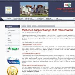 Collège de Drulingen - Méthodes d'apprentissage et de mémorisation