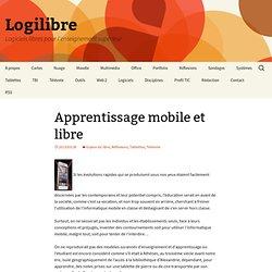 Apprentissage mobile et logiciel libre