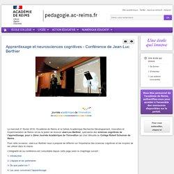 EDITO : Expérimentation et innovation - Apprentissage et neurosciences cognitives - Conférence de Jean-Luc Berthier