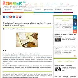 Modules d'apprentissage en ligne sur les 6 types d'écriture numérique