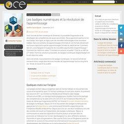 Les badges numériques et la révolution de l'apprentissage - OCE - L'Observatoire compétences-emplois