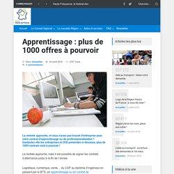 Apprentissage : plus de 1000 offres à pourvoir - Région Hauts-de-France