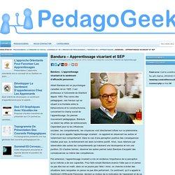 Apprentissage vicariant et SEP (Bandura) blog Pedagogeek