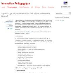 Apprentissage par problème (via Edu Tech wiki de l'université de Genève)