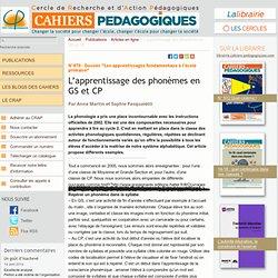 L'apprentissage des phonèmes en GS et CP