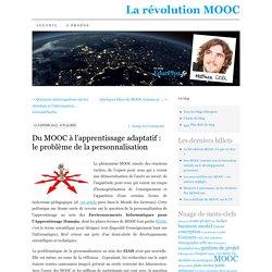 Du MOOC à l'apprentissage adaptatif : le problème de la personnalisation
