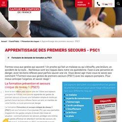 Apprentissage des premiers secours - PSC1