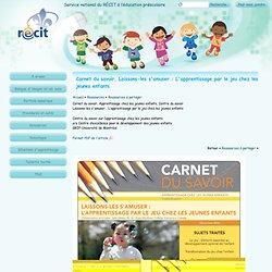 Carnet du savoir, Laissons-les s'amuser : L'apprentissage par le jeu chez les jeunes enfants