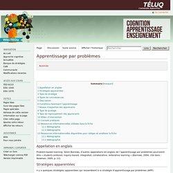 Apprentissage par problèmes — ted6210