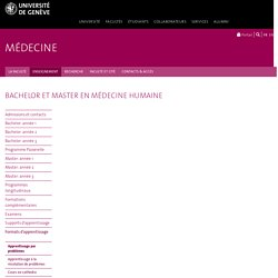 Apprentissage par problèmes - Faculté de médecine