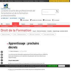 Apprentissage : prochains décrets