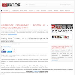 Coding with Chrome : un outil d'apprentissage de la programmation