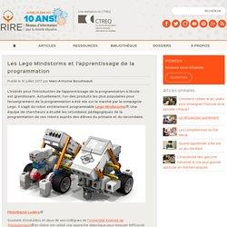 Les Lego Mindstorms et l'apprentissage de la programmation