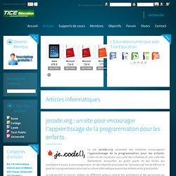 jecode.org : un site pour encourager l'apprentissage de la programmation pour les enfants