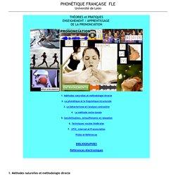 théories, enseignement, apprentissage prononciation FLE, phonétique