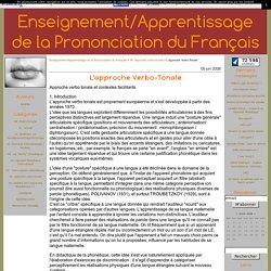 L'approche Verbo-Tonale - Enseignement/Apprentissage de la Prononciation du Français