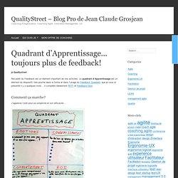 Quadrant d'Apprentissage... toujours plus de feedback!