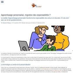 Apprentissage personnalisé, migration des responsabilités