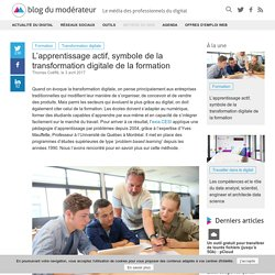 L'apprentissage actif, symbole de la transformation digitale de la formation