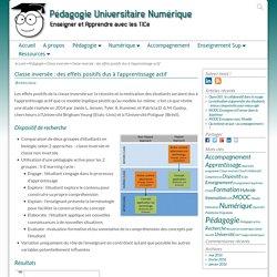 Classe inversée : des effets positifs dus à l'apprentissage actif – Pédagogie Universitaire Numérique