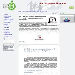 Site Disciplinaire EPS Créteil - Les TICE au service des apprentissages en EPS : autoscopie, autonomie et autorégulation